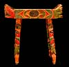 Polychrome Wood Chief¹s Stool, Pacific Northwest Coast Native American Art